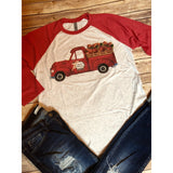 Special Delivery on Red Raglan (Unisex Fit)