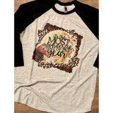 It's the Most Wonderful Time of the Year Football on Black Raglan (Fits True to Size)