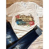 Dirt Road on Oatmeal V-Neck (Fits True to Size)