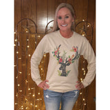 Be Wild and Free Deer on Sand Long Sleeve