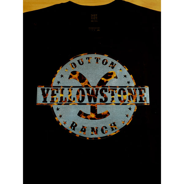 Turquoise Yellowstone on Black Crewneck (Fits True to Size)