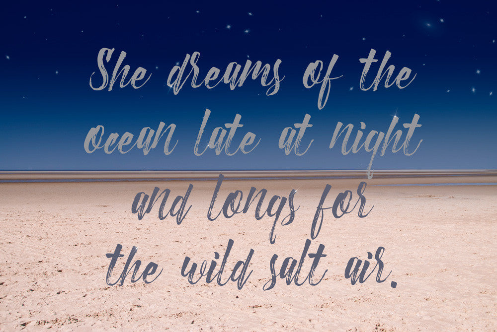 She Dreams of the Ocean - Free Printable