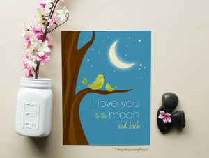 Chirp! Chirp! Freshen up the nursery with this adorable art print.
