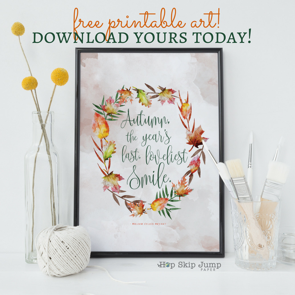Hello Autumn (Free Printable!)