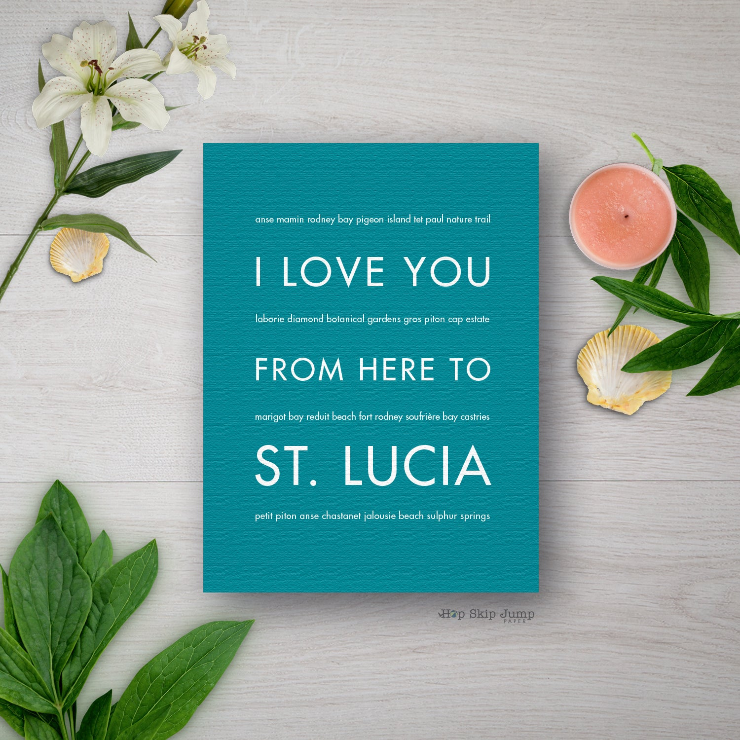 St Lucia Travel Art Print