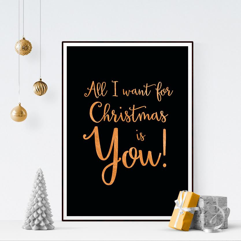 Free Printable - All I Want for Christmas