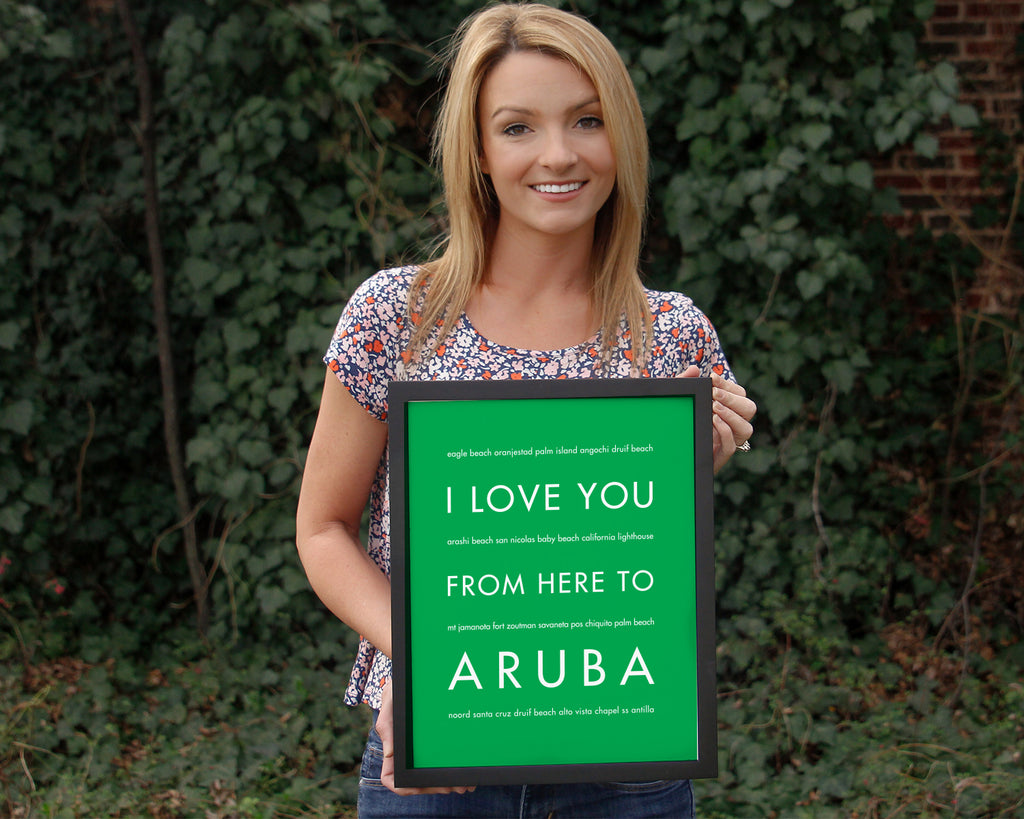 I Love You From Here to Aruba Art Print
