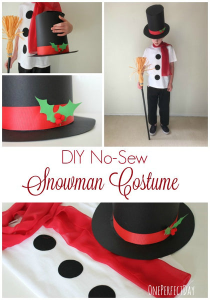 diy snowman costume by one perfect day blog