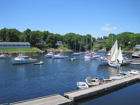 Sailboats in the Ogunquit harbor
