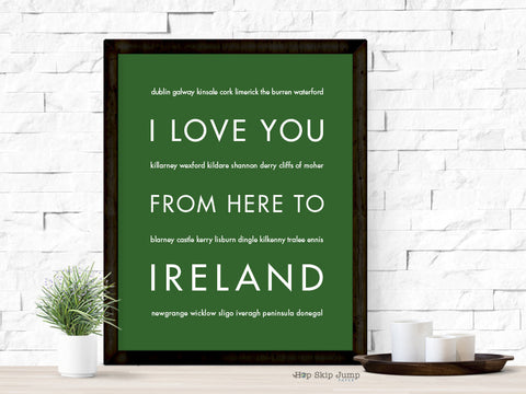 i love you from here to ireland
