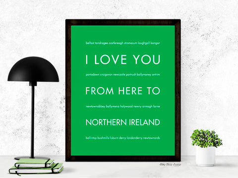 Northern Ireland wall art print