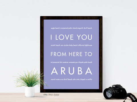 Aruba travel art print