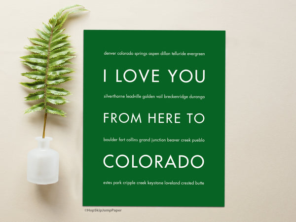 Colorado state wall decor