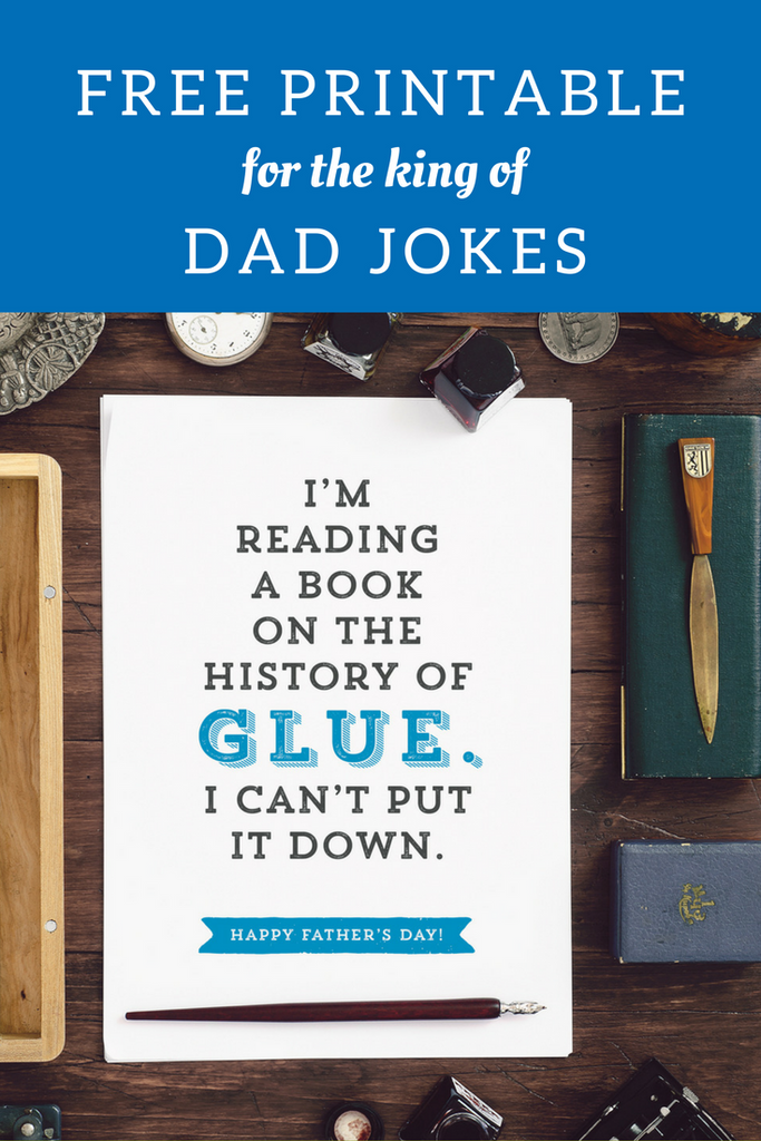 Dad jokes free printable greeting card