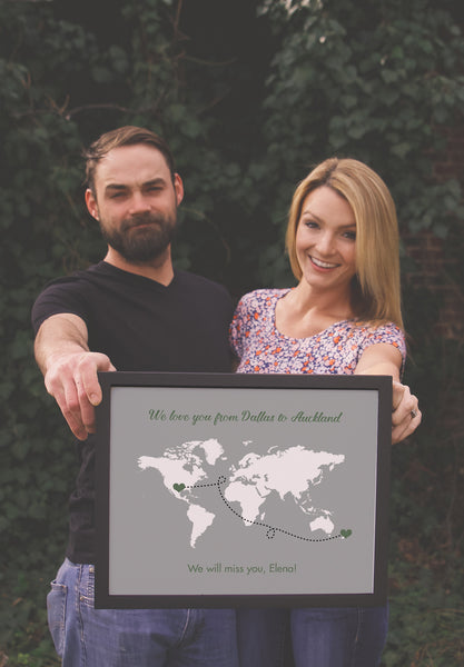 Valentine's Day Gift Guide Journey World Map Sign