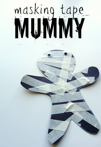 masking tape mummy by no time for flashcards
