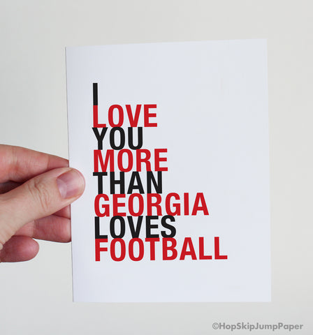 Georgia football greeting card gift idea