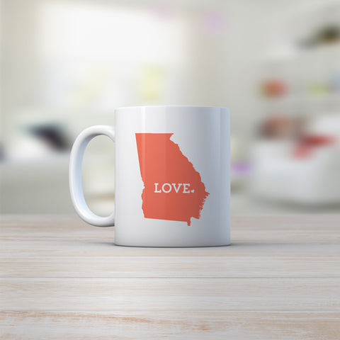 georgia peach coffee mug gift idea