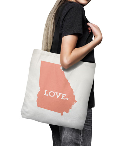 Georgia state tote bag