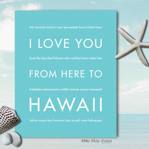 i love you from here to hawaii