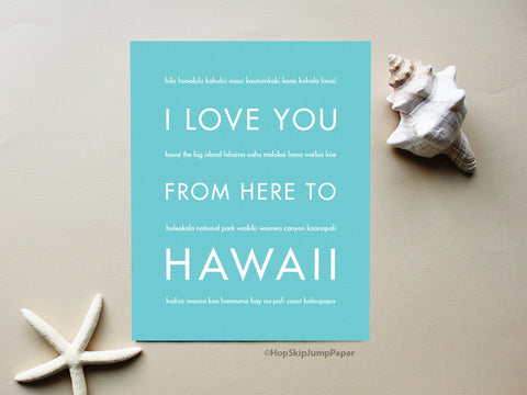 Hawaii travel art print