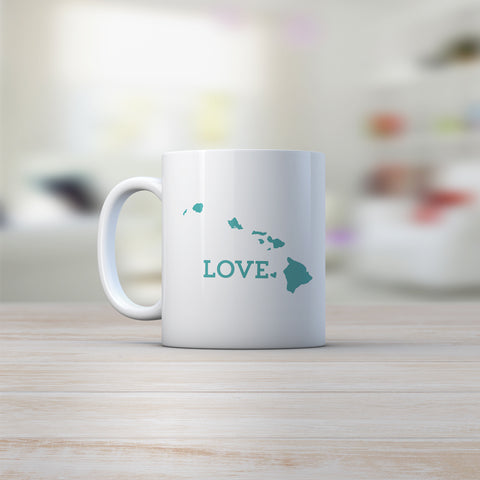 Hawaiian island coffee mug