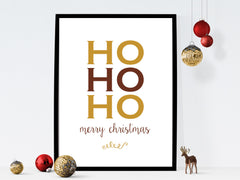 Ho Ho Ho Merry Christmas instant download printable