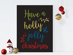 holly jolly christmas art