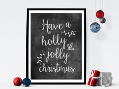 Have a holly jolly Christmas chalkboard art