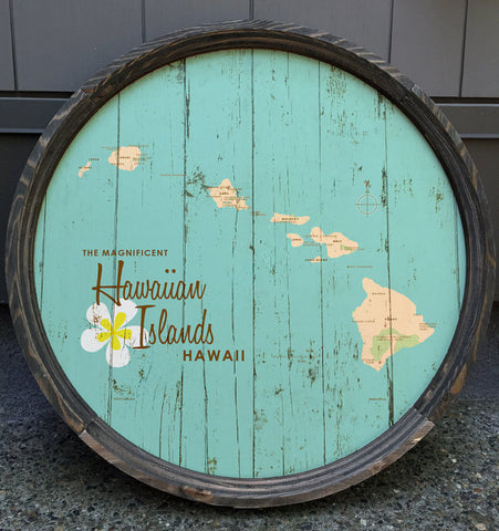 hawaiian islands barrel art