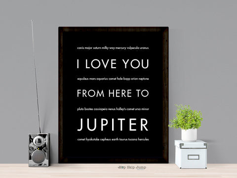 i love you from here to jupiter