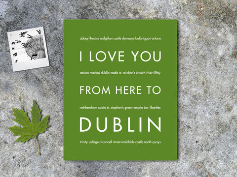 i love you from here to dublin