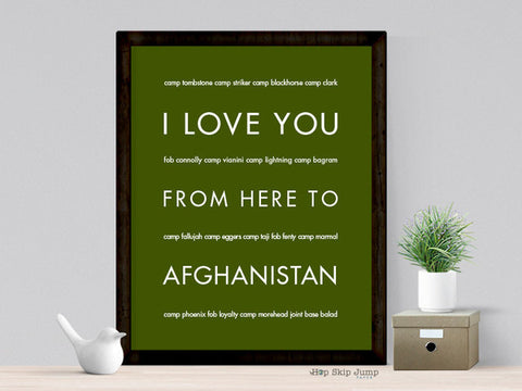 i love you from here to afghanistan