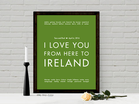Ireland wedding art print