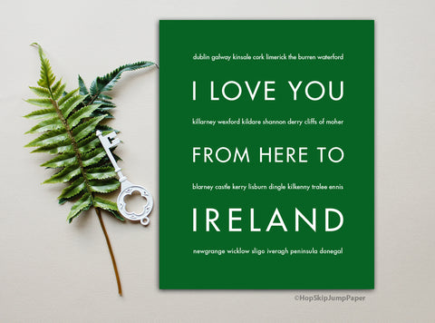 Ireland wall art print