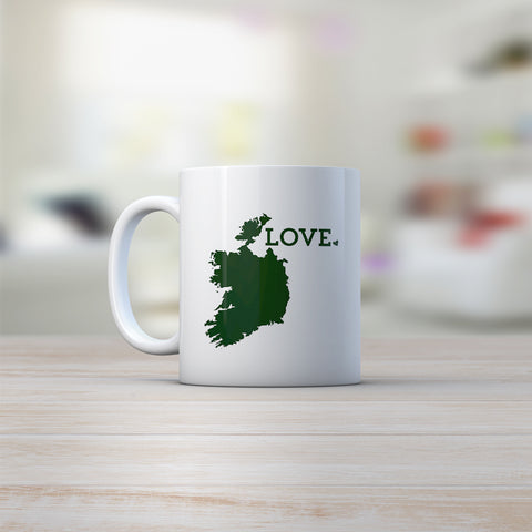 ireland map coffee mug