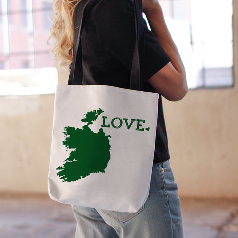 Ireland love tote bag