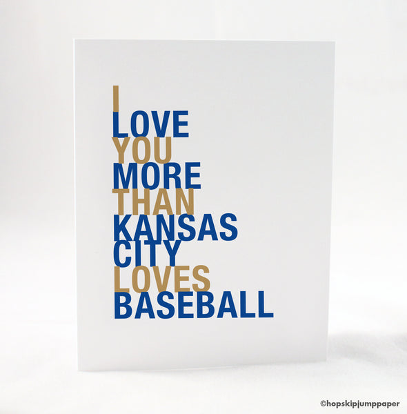 Kansas City Baseball greeting card