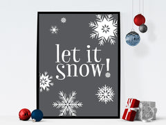 Let it Snow Instant Download Printable