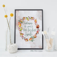 Autumn free printable art