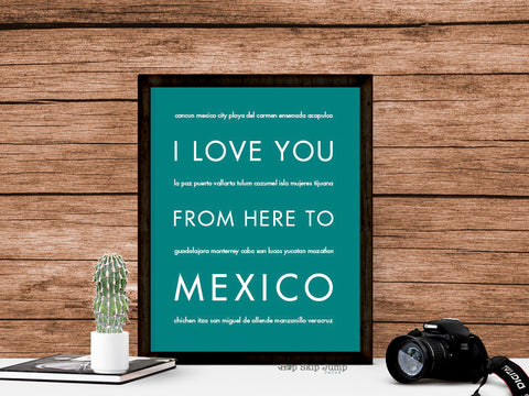 mexico travel art print