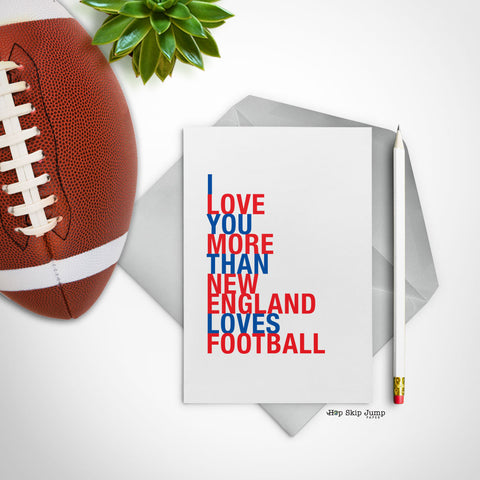 Valentine's Day Gift Guide Football Greeting Cards
