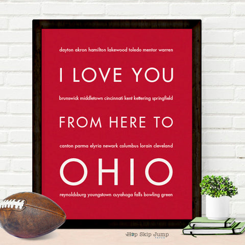 Ohio wall art poster