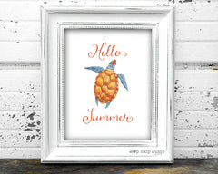 Hello Summer Free August Printable Art