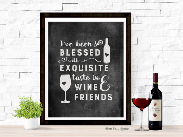 wine and friends art