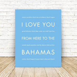 BAHAMAS Travel Art Print | Gift Idea | HopSkipJumpPaper