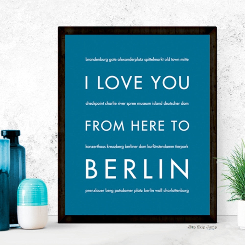 BERLIN Germany Travel Print | Gift Idea | HopSkipJumpPaper  - Shop Online