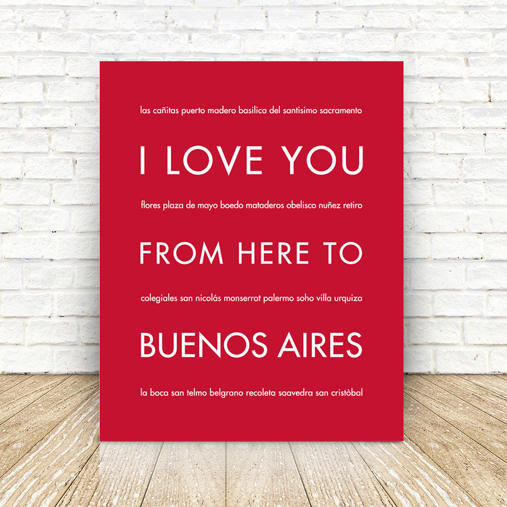 BUENOS AIRES Travel Print | Gift Idea | HopSkipJumpPaper