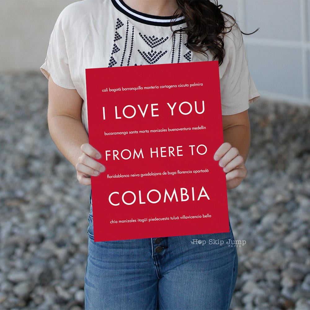 COLOMBIA Travel Print | Gift Idea | HopSkipJumpPaper