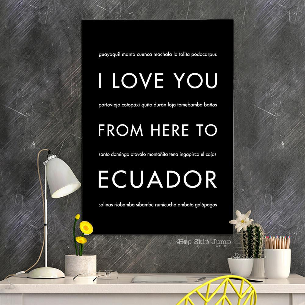 ECUADOR Travel Art Print | Gift Idea | HopSkipJumpPaper